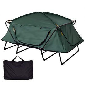 GYMAX Tent Cot, 2 Person Foldable Camping Waterproof Shelter with Window Carry Bag