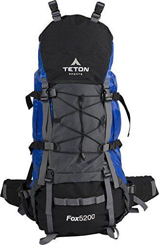 TETON Sports Fox 5200 Internal Frame Backpack; High-Performance Backpack for Backpacking, Hiking, Camping