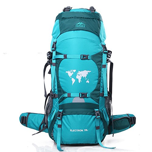 TOPSKY Sports Waterproof Internal Frame Backpack 70L Unisex Large Travel Daypacks with Rain Cover (Extension to 80L)