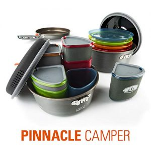 GSI Outdoors - Pinnacle Camper Cooking Set for Camping and Backpacking, 2 to 4 Person