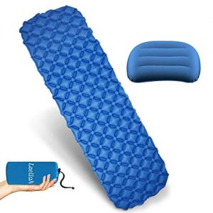 Ultralight Inflatable Camping Mat & Travel Pillow for Backpacking