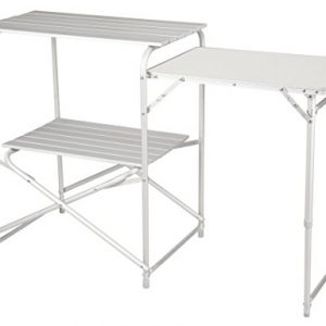 Alpine Mountain Gear Roll Top Kitchen Table, Grey