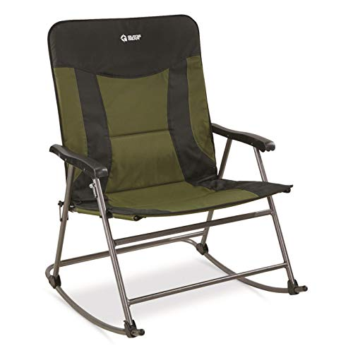 Guide Gear Oversized XXL Rocking Camp Chair, 600-lb. Capacity, Green/Black