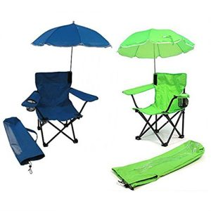 Redmon for Kids Beach Baby Kids Umbrella Camp Chair (Combo of Blue and Green)