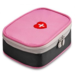 Portable Mini First Aid Kit, Multifunction Medicine Bag Small First Responder Storage Bag for Outdoor Home Travel Office Camping Hiking Cycling - Just Empty Medicine Pouch