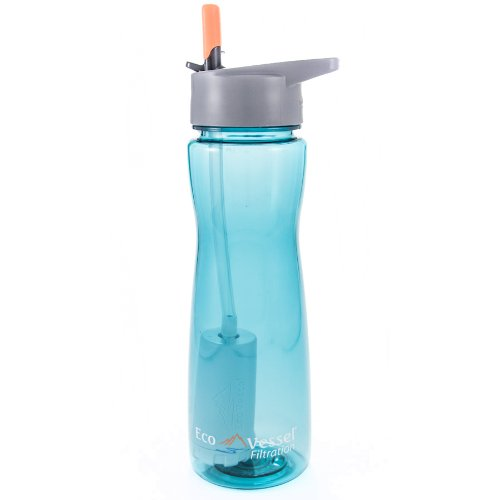 EcoVessel Tritan Ultra Lite Filtration Water Bottle with 100 Gallon Filter, 25 Ounces