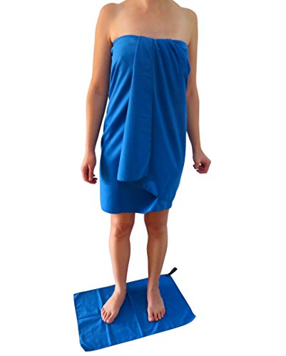 "Microfiber Quick Dry Travel Towel, XL 30x60"" - Comes With Fast Dry Hand Towel - Our Super Absorbent Dry Towel is So Soft, Lightweight and Compact - for Camping, Gym or a Beach Towel"