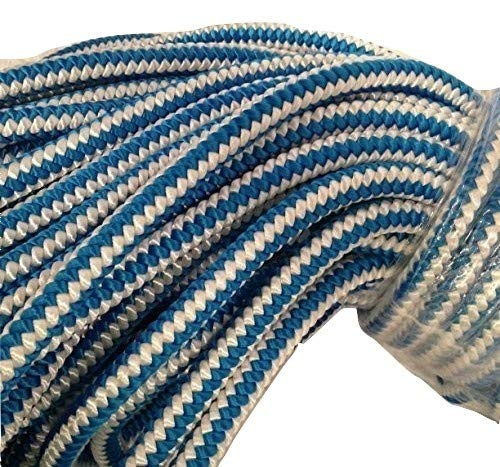 1/2 Inch by 100 Feet 12 Strand Polyester Blue Ox Arborist Climbing Rope