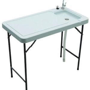 Tricam MT-2/SKFT-44 Outdoor Fish and Game Cleaning Table with Quick-Connect Stainless Steel Faucet