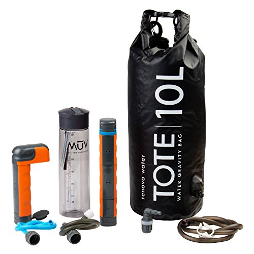 Renovo Water MUV Eclipse Survival Water Filter System - Blocks Chemicals, bacteria, Viruses, and More - The Ultimate Survival Water Filter For Outdoors and Camping