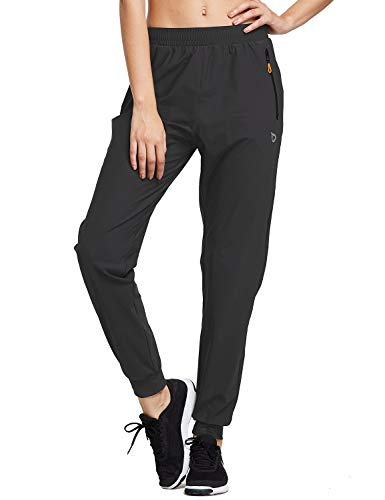 BALEAF Women's Athletic Joggers Pants Dry Fit Running Sweat Pants Zipper Pockets Lightweight Sports Track Pants