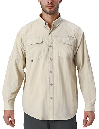 Naviskin Men's UPF 50+ Sun Protection Outdoor Long Sleeve Shirt Lightweight Quick-Dry Cooling Fishing Shirts