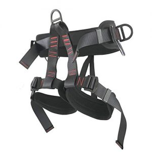 LAPARD Thicken Climbing Harness, Waist Hip Protection Safety Harness Half Body Safe Seat Belts for Tree Rock Climbing, Mountaineering, Fire Rescuing, Outdoor Caving, Rappelling, Sport Climbing