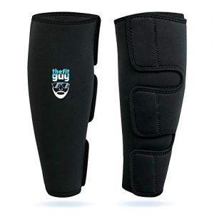 THEFITGUY Weightlifting Shin Guards, EasyWear - No Need to Take Off Shoes, Wear Over Skin, Socks, Training Pants and Tights, Ultimate Shin Protection (Pair)