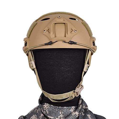 Tongcamo Fast PJ Paintball Airsoft Helmet for Training, Rescue, Climbing, Riding, Jumping, Military