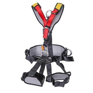HUHONG Full Body Climbing Harness Safe Seat Belt for Mountaineering Fire Rescuing Rock Climbing Rappelling Outdoor Tree Climbing