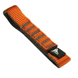 Fusion Climb Quickdraw Runner Military Tactical Edition Stitched Loop Nylon CE UIAA Certified Webbing 12cm x 1.9cm Orange/Gray