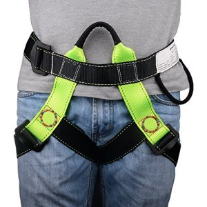 BRILLIANCE4U Climbing Harness, Half Body Beginner Harness, Safety Belt Harness for Mountaineering Fire Rescuing Rock Climbing Tree Climbing Roof Working