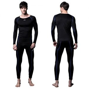 FITEXTREME Mens MAXHEAT Fleece Lined Performance Long Johns Thermal Underwear