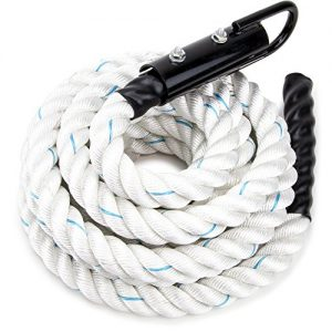 Crown Sporting Goods 1.5-inch White Poly Dac Gym Climbing Rope