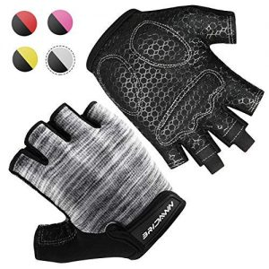 Bridawn Weight Lifting Workout Gloves Men Women Gym Gloves with Full Palm Non-slip Silicone Grip 5mm Gel Padded Protection for Cycling Sports Exercise Training Pull Up Rowing Climbing Crossfit Fitness