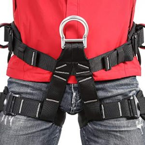 Eleven Guns Adjustable Climbing Harness Rock Climbing Rappelling Equip Tree Protect Fire Rescuing Half Body Waist Safety Belt