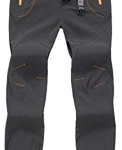 TBMPOY Men's Outdoor Quick Dry Hiking Mountain Cargo Pants Zipper Pockets