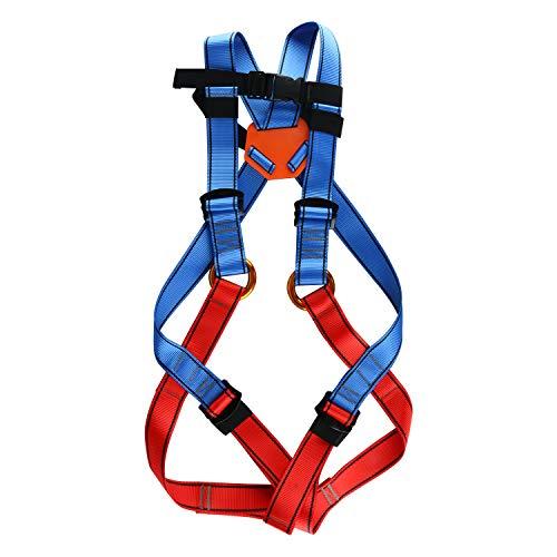 HYDDNice Kids Climbing Harness Child Full Body Seat Belt Rock Climbing Harness Safety Belt for Outdoor Expanding Training Caving Rock Climbing Rappelling Equipment