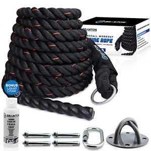 B Branton Easy-Install Workout Climbing Rope - 25 feet Exercise Climbing Rope