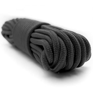 Emergency Zone 9mm Nylon Braided, 50 Foot, Multi-Purpose Camping Rope Brand | Available in 1, 2, 3, 4, 40 Packs. Black, Green, White, Red, Orange, Camouflage Color Options ...