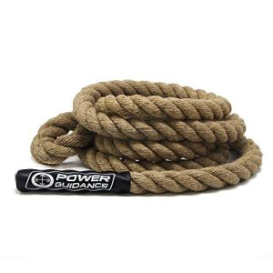 POWER GUIDANCE Climbing Rope, 1.5 Inch in Diameter, No Mounting Bracket Needed, Length Available 8, 10, 12, 15, 20, 25, 30, 35, 40, 50 Feet