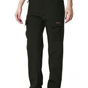 Clothin Women's Fleece-Lined Soft-Shell Cargo Pants - Water-Repellent, Wind-Resistant