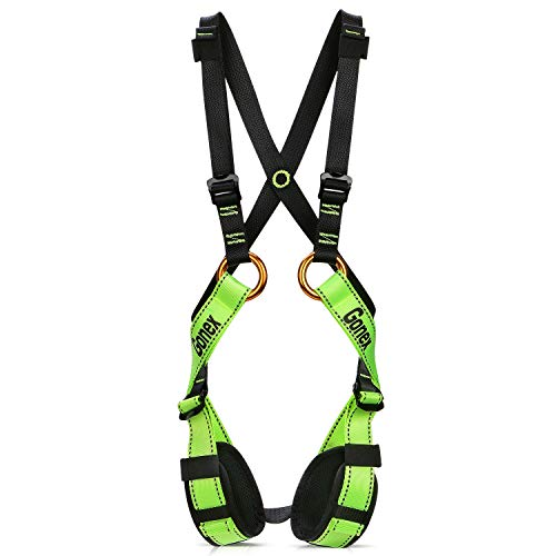 Gonex Kids Full Body Climbing Harness, Child Safety Harness Comfortable Seat Belts for Rock Climbing Extension Training Tree Climbing Mountaineering Rappelling Zipline