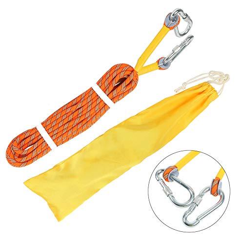 YAETEK Outdoor Climbing Rope 10M(32ft) Static Rock Climbing Rope, Escape Rope Ice Climbing Equipment Fire Rescue Parachute Rope