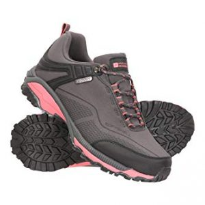 Mountain Warehouse Collie Womens Waterproof Hiking Shoes Walking Sneakers Grey Womens Shoe Size 7 US
