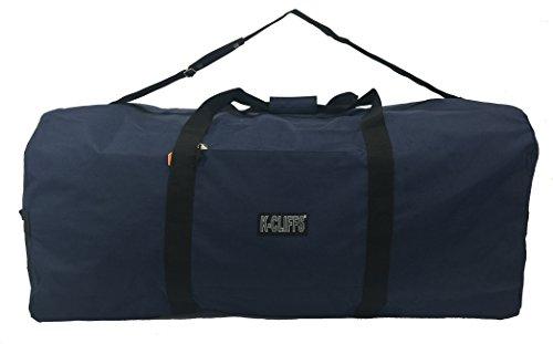 "Heavy Duty Cargo Duffel Large Sport Gear Drum Set Equipment Hardware Travel Bag Rooftop Rack Bag (30"" x 15"" x 15"", Navy)"