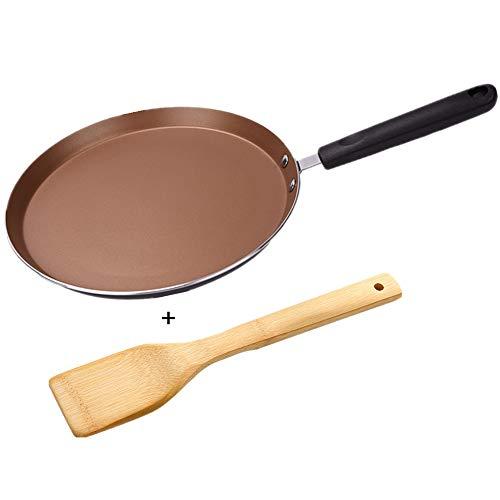 Mokpi Nonstick Skillet Crepe Pan Omelet Pan Pancake Fry Pan Kitchen or Camping Cookware (8-Inch, Gold)
