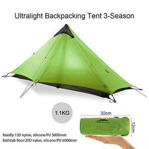 KIKILIVE Ultralight Tent 3-Season Backpacking Tent for 1-Person or 2-Person Camping, New LanShan Outdoor Camping Tent Shelter,Perfect for Camping, Trekking, Kayaking, Climbing, Hiking