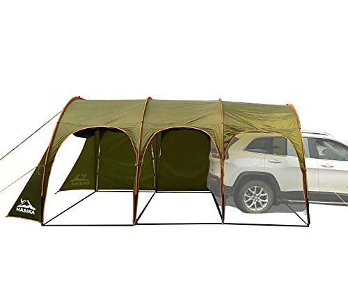 Family Camping Tunnel Tent Top Canopy Cover for Car Trailer BBQ Waterproof Portable 8-10 Person 15x10 ft