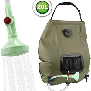 Camping Shower Solar Shower 20L Shower Bag Solar Heating Camping Shower Bag with Shower Head & On-Off Switchable, Garden Shower Pool Shower Hot Water Shower, Outdoor Camping Hiking Water Bag