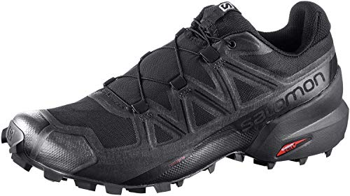 Salomon Men's Speedcross 5 Trail Running, Black/Black/Phantom, 10