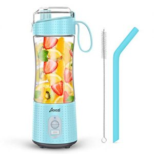 Portable Blender, Personal Size Blender Smoothies and Shakes, Mini Blender 4000mAh USB Rechargeable with Six Blades, Handheld Blender Sports,Travel,Gym (Blue)