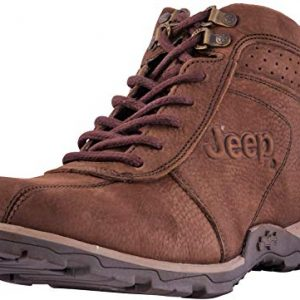 Jeep Arkansas 10427 Men's Boots Hiking Ankle High Leather Outdoor Camping Shoes (8, Ash)