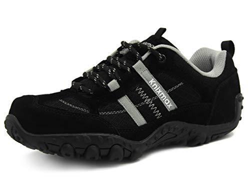 Knixmax Women's Hiking Shoes Lightweight Non-Slip Climbing Trekking Sneakers for Woman Summer Camping Backpacking Approach Shoe Black Size 7