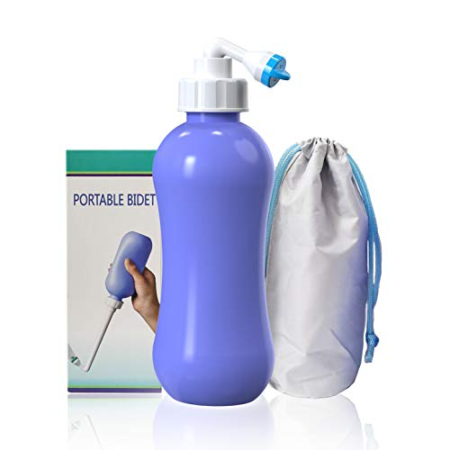 SANIWISE Bidet Bottle for Travel and Personal Hygiene 380ml, Peri Bidet Spray Nozzle for Women Washer after Birth, Postpartum Care toilet bedet at Home, Outdoor, Camping