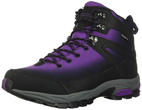 Mountain Warehouse Intrepid Womens Softshell Waterproof Hiking Boots Purple Womens Shoe Size 6 US