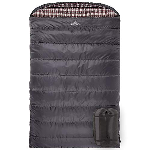 TETON Sports Fahrenheit Mammoth 0F Queen-Size Double Sleeping Bag; Warm and Comfortable; Double Sleeping Bag Great for Family Camping; Compression Sack Included
