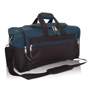 Medium Duffle Bag Duffel Bag in Black and Navy Blue Gym Bag