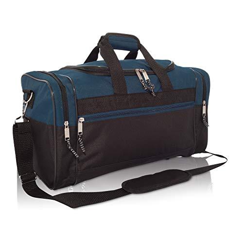 Medium Duffle Bag Duffel Bag in Black and Navy Blue Gym Bag