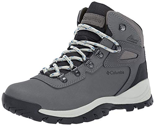Columbia Women's Newton Ridge Plus Waterproof Hiking Boot, Quarry/Cool Wave, 8.5 Wide